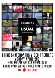 Think skateboards Premiere